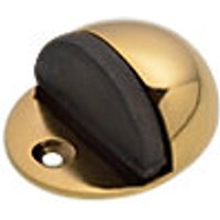 Wickes Floor Mounted Door Stop Brass