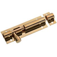 Wickes Barrel Bolt Brass Effect 76mm