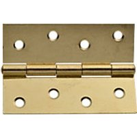 Wickes Butt Hinge Brass Effect 102mm 2 Pack