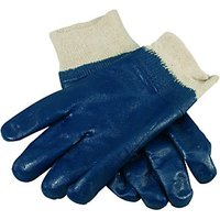 Wickes Nitrile/Chemical Gloves Blue Large