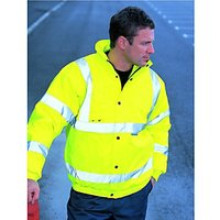 Wickes Class 3 High Visibility Bomber Jacket Yellow Large