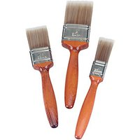 Wickes Mastercoat Synthetic Paint Brush Set 3 Pack