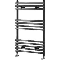 Wickes Liquid Round Vertical Designer Towel Radiator - Anthracite 500 x 400 mm