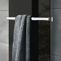 Wickes Glass Radiator Towel Bar - Brushed Stainless Steel 50 x 540 mm