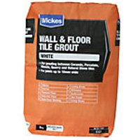 Wickes Wall & Floor Tile Grout White 5kg
