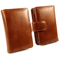 Vintage Genuine Leather Wallet Case Cover for Fiio X5 iii 3rd Gen - Brown