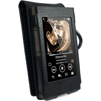 Faux Leather Case Cover for Sony Walkman NW-A35 - Black