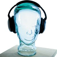 AMP3 Luxury Glass Head Headphones Stand Colour BLUE