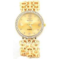 Quartz Uhr Modeschmuck Armbanduhr Deko Strass Damenuhr