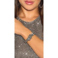 Glamour Glitzer Strass Armband im Knoten-Style