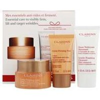 Clarins Gifts And Sets Gentle Foaming Cleanser 30ml, Extra-firming Day Cream 50ml And Extra-firming Night Cream 15ml