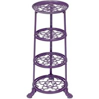 4 Tier Metal Pan Stand in Graphite Grey