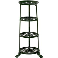 4 Tier Metal Pan Stand in Green