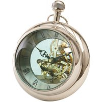 Round Silver Paperweight Clock