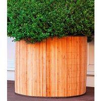 Bambusdeko- & Frostschutzmanschette `naturhell` 65x60 cm