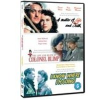 Classic Films Triple - The Life And Death Of Colonel Blimp / A Matter Of Life And Death / I Know Where Im Going