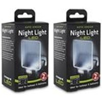 Integral Auto Sensor, Dusk to Dawn, LED Night Light, Plug In, Pack of 2