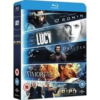 5-Movie Starter Pack: Lucy/Dracula Untold/47 Ronin/Immortals/R.I.P.D (Region Free) (Blu-ray)