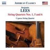 Lees: String Quartets Nos 1, 5 & 6 (Music CD)