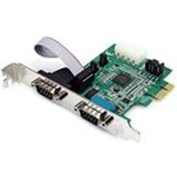 StarTech 2 Port Native PCI Express RS232 Serial Adapter Card with 16950 UART Serial adapter PCI Express x1 low profile RS-232 2 ports