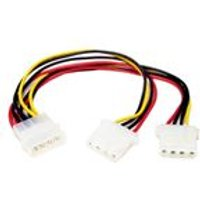 StarTech LP4 to 2x LP4 Power Y Splitter Cable - Power cable - 4 pin internal power (F) - 4 pin internal power (M)