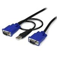 StarTech Ultra Thin USB 2-in-1 KVM Cable (3m)