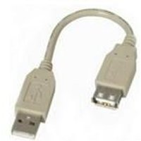 Fully Rated USB Extension Cable A-A (0.15m)