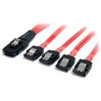 StarTech (50cm) Serial Attached SCSI SAS Cable - SFF-8087 to 4 x Latching SATA