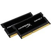 Kingston HyperX Impact 16 GB (2 x 8 GB)1600 MHz DDR3L CL9 SODIMM Notebook Memory Kit - Black