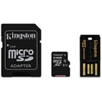 Kingston 64GB Class 10 Micro SDXC Memory Card with USB Reader and SD Adapter