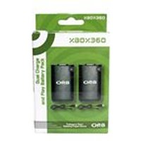 ORB Dual Charge And Play Battery Pack - Black (Xbox 360)