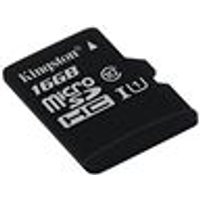Kingston 16 GB MicroSD SDHC Memory Card Class 10 UHS-I (Card Only)