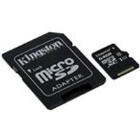 Kingston 64 GB Micro SD SDXC Card Class 10 UHS-I with Adapter
