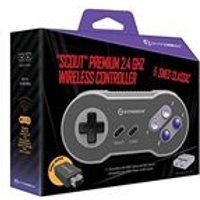 Hyperkin Scout Premium 2.4Ghz Wireless Controller for Mini SNES/NES (Electronic Games)