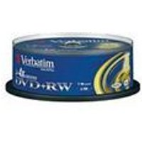 Verbatim DVD+RW 4.7GB 4x Matt Silver Spindle 25 Pack