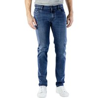 Image of Alberto Slim Jeans Dual FX Denim dark blue