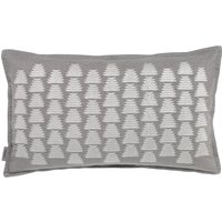 Murmur Ikat Cushion in Soft Grey