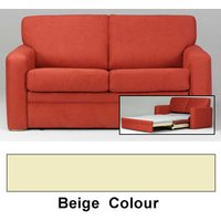 Clearance Flame The Scoop Double Sofabed - Beige