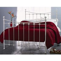Clearance Original Bedstead Co The Carrick (Solo) 3FT Single Metal Bed - Glossy Ivory