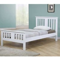 Clearance Star Collection Brent 4FT Small Double Bedstead - White High Foot End