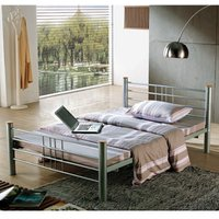 Clearance Metal Beds Cuba 4FT 6 Double Metal Bed - Silver