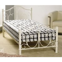 Apollo Beds Pearl 3FT Single Metal Bedstead