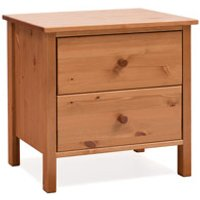 Stompa Classic Kids Honey Pine 2 Drawer Bedside Chest