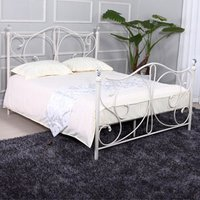 LPD Florence 4FT 6 Double Metal Bedstead - White