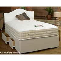 Clearance Sleeptime Beds 2000 Backcare Memory 4FT 6 Double Divan Bed - 2 Drawer