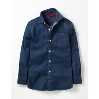 Blues Shirt Washed Indigo Boys Boden, Blue