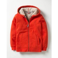 Borg-lined Zip-up Hoodie Ziggy Red Boys Boden, Red