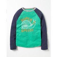 Graphic Raglan T-shirt Green Boys Boden, Green