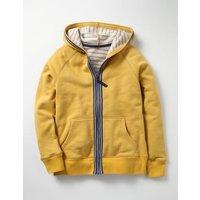 Essential Zip-up Hoodie Yellow Boys Boden, Yellow