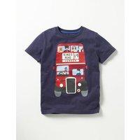 Great British T-shirt Navy Bus Boys Boden, Navy